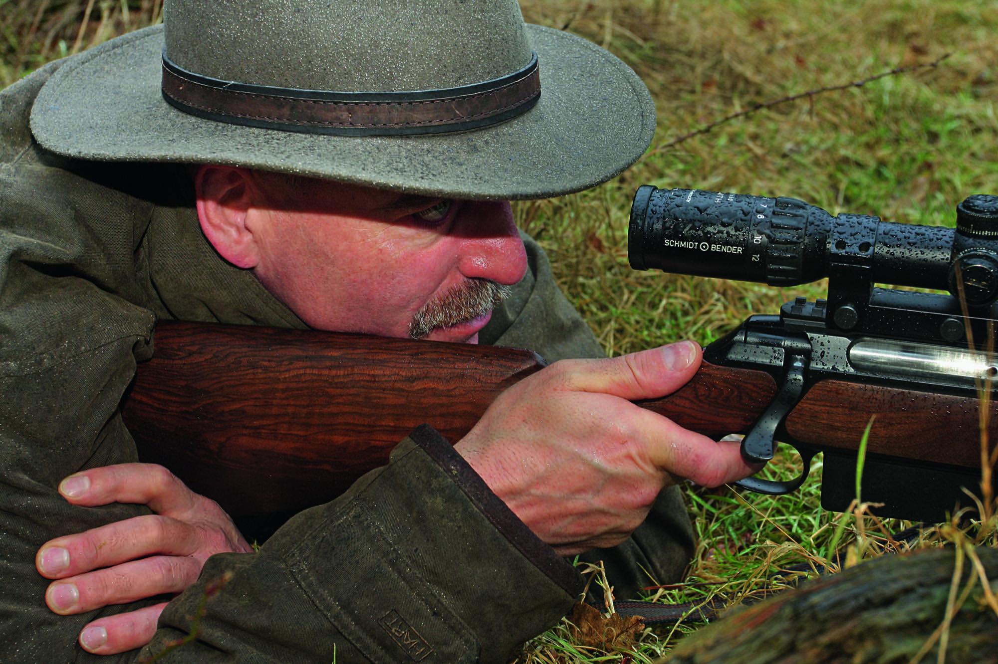 Hermann Rosenberg SAUEN Schusspositionen auf der Pirsch
